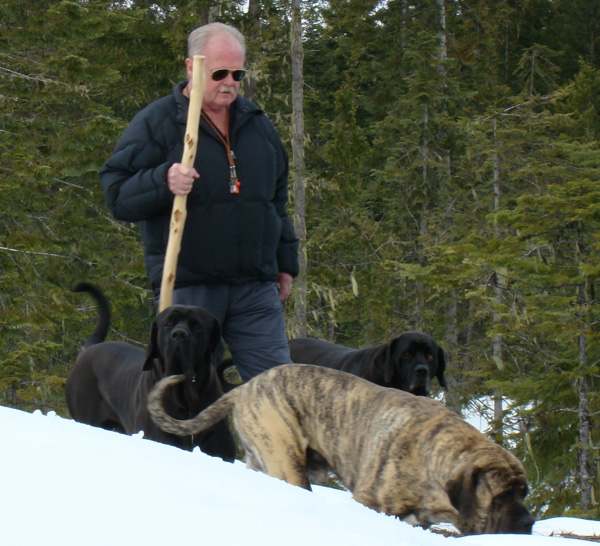 Dr. Plechner and his dogs